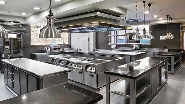 چیدمان تجهیزات آشپزخانه صنعتی